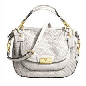 Coach Artisan Collection Leather Woven Bag